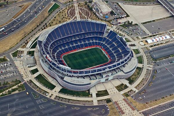 Aerial of Sports Authority Field
